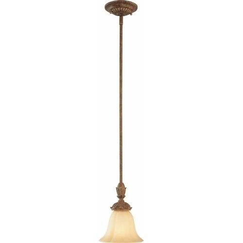 Volume Lighting V3541 Capri 1 Light Mini Pendant - chestnut spice