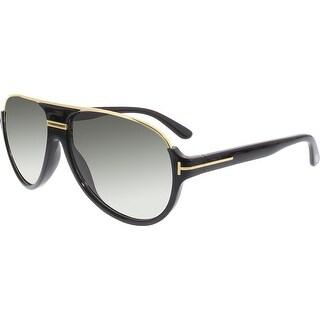 Tom Ford Men's Gradient Dimitry FT0334-01P-59 Black Aviator Sunglasses