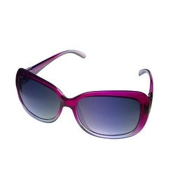 Ellen Tracy Womens Sunglass 537 2 Lavendar Fade Rectangle Plastic, Gradient Lens - Medium