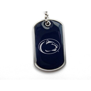 Penn State Nittany Lions Dog Tag Domed Necklace Charm Chain NCAA
