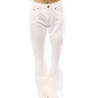 Polo Ralph Lauren NEW White Denim Women's Size 31X35 Flare Leg Jeans
