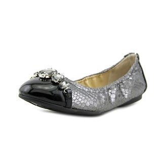 Adrienne Vittadini Chapa Women Round Toe Synthetic Silver Ballet Flats