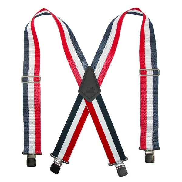 CTM® Men's 2 Inch Wide Non-Elasticized Construction Clip-End Suspenders
