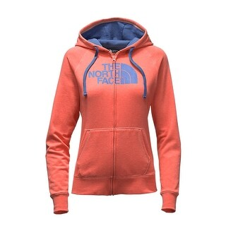 The North Face Women's Half Dome Full-zip Feather Orange Heather/Coastal Fjord Blue