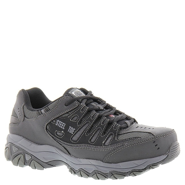 d1db298f0ed3 SKECHERS Work Men  x27 s Crankton Black Charcoal Shoe