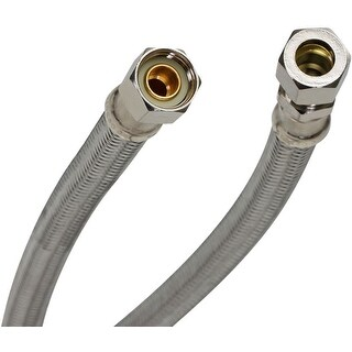 "Fluidmaster PRO8F16  16"" Faucet Connection Hose, 3/8"" Female Compression x 3/8"" Male Compression"
