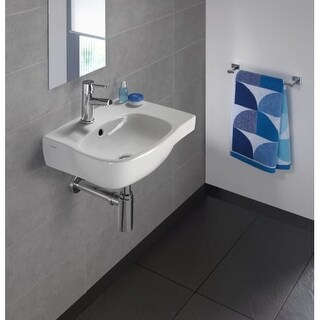 "Bissonnet Moda 45 Moda 17-11/16"" Vitreous China Wall Mounted Bathroom Sink with"