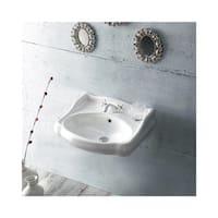 """Nameeks 030200-U Cerastyle 23-2/3"""" Ceramic Bathroom Sink Only for Pedestal Installation - Includes Overflow"""