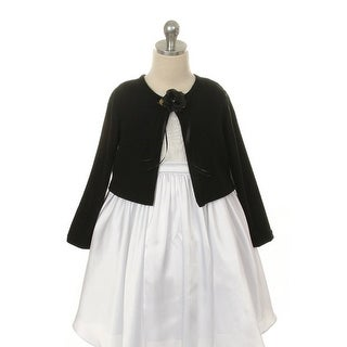 Kids Dream Black Flower Special Occasion Cardigan Sweater Girls 2T
