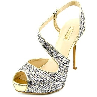 Guess Hilariely 2 Women Peep-Toe Canvas Heels