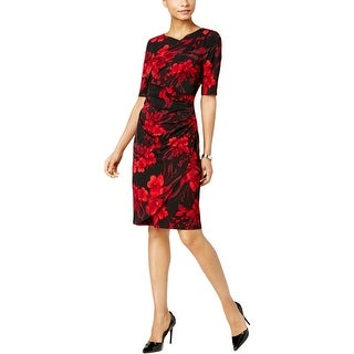 Connected Apparel Womens Special Occasion Dress Wear To Work Floral Print - 6