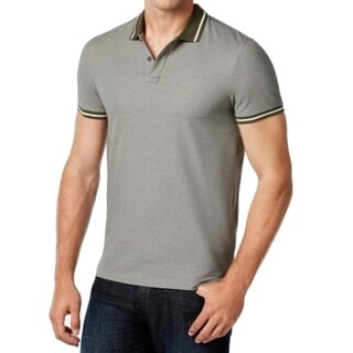 Michael Kors NEW Gray Mens Size 2XL Polo Rugby Short Sleeve Shirt