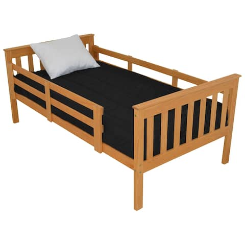 Pine Full Mission Bed with Safety Rails