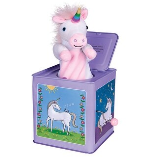 Jack Rabbit Unicorn Jack-In-The-Box - Musical Pop Up Toy for Children - 6 in. x 6 in. x 6 in.