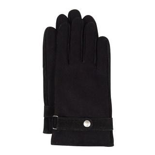 Grandoe Men's Wool Blend Fleece-Lined Gloves (M, Black) - M