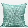 "G Home Collection Luxury Lack Blue Handmade X Shape Textured Beaded Pillow 20""X20"" - Thumbnail 0"