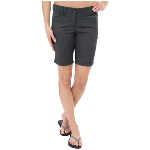 Jack Wolfskin Gray Womens Large Chino Cuff Shorts