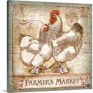"""Farmer's Market"" Canvas Wall Art"