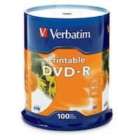 Verbatim DVD-R, 95153, 4.7GB, 16X, White Inkjet Printable, 100PK Spindle
