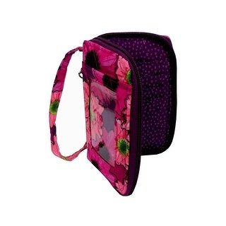 30022828 Darice Fashion Bags Fabric Cell Pouch Flrl Pink