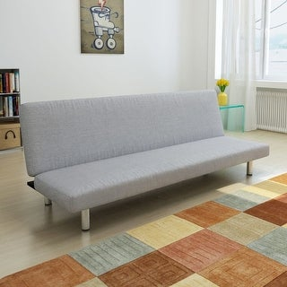 vidaXL Light Gray Convertible Sofa Bed