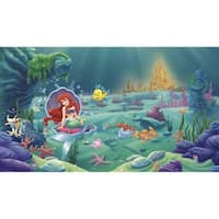 "RoomMates JL1224M 72"" x 126"" - Littlest Mermaid - Prepasted Non-Woven Mural - N/A"