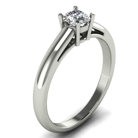 0.60 CT 4-Prong Classic Solitaire Engagement Diamond Ring in 14KT
