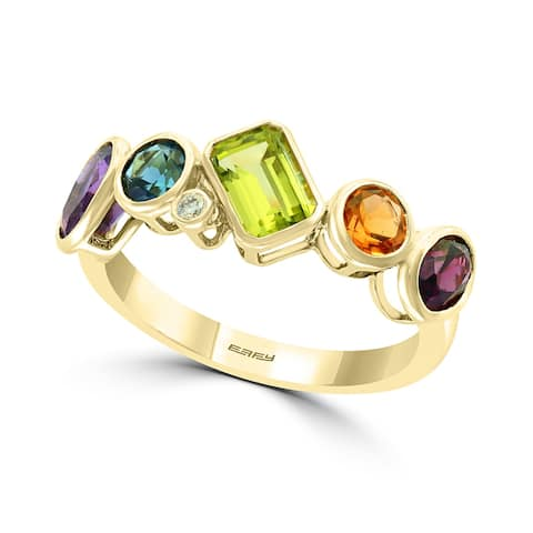 Effy Jewelry Multi-Gemstone Stackable Band in 14K Yellow Gold, 2.43 TWC