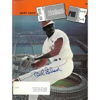 Bob Gibson signed St Louis Cardinals Stadium Fan Full Magazine May 1969