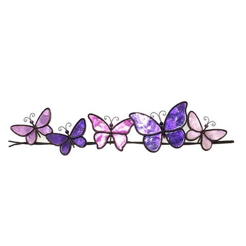 Butterflies On A Wire Wall Decor Brown