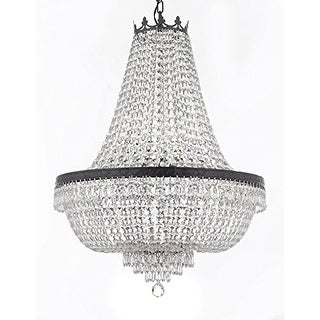 Crystal Chandelier With Dark Antique Finish