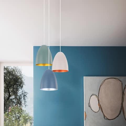 Eglo Sarabia Pendant w/ Blue Exterior Finish / Silver Interior Finish
