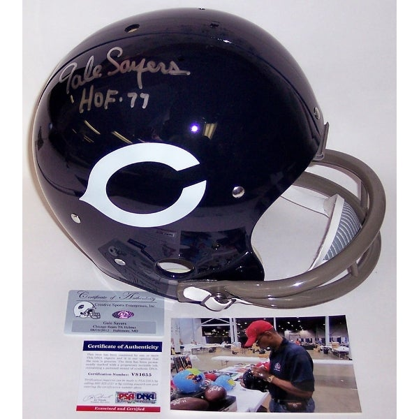 f8c0e4a4b86 Shop Gale Sayers Autographed Hand Signed Chicago Bears 2-Bar TK Full Size  Helmet - PSA/DNA - Free Shipping Today - Overstock - 12785420