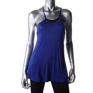 Stoosh Womens Juniors Halter Top Jersey Embellished