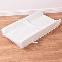 Costway Baby Table Contoured Changing Pad Diaper Change Nursery Cushion - White