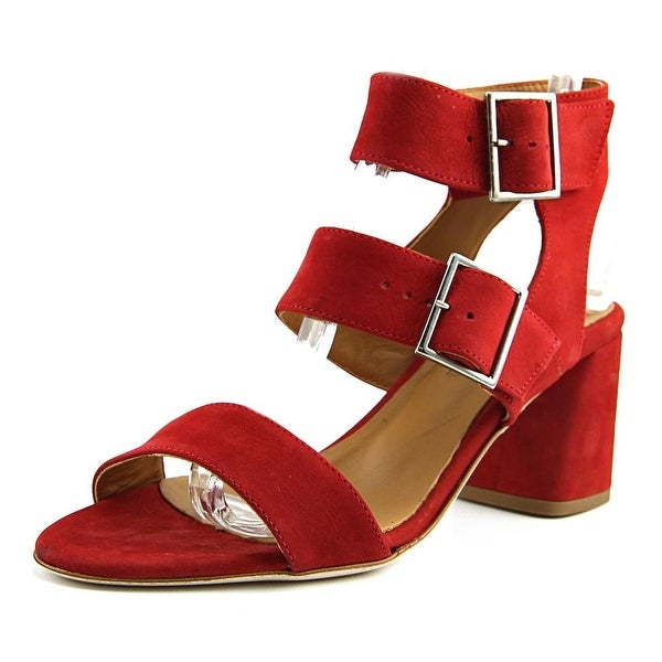 Firenze.Studio Firenze Women Open Toe Suede Red Sandals