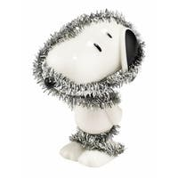 "Department 56 Peanuts Snoopy By Design ""Totally Tinseled"" Christmas Figurine #4044973 - silver"