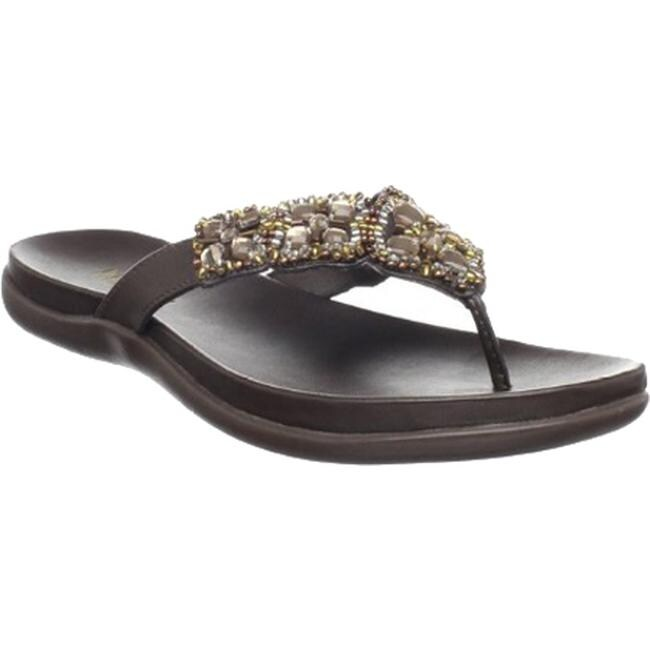 Kenneth Cole Reaction Women's Glam-Athon Sandal Bark Metallic