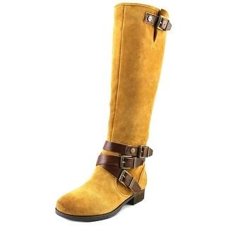 Marc Fisher Noreene Women Round Toe Suede Knee High Boot