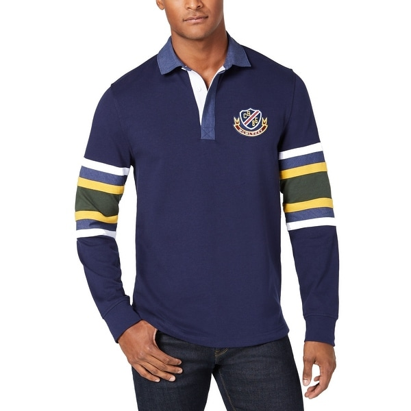 a7d545f7132 Shop Club Room Navy Blue Yellow Mens Size 3XL Striped Polo Rugby Shirt - Free  Shipping On Orders Over $45 - Overstock - 28481045