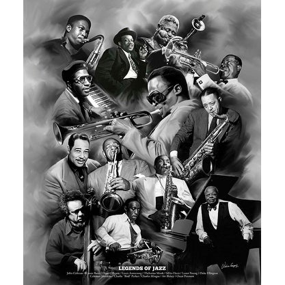 ''Legends of Jazz'' by Wishum Gregory Music Art Print (24 x 20 in.)