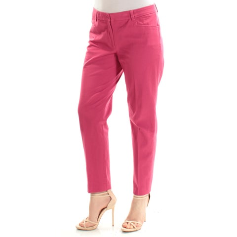 ANNE KLEIN Womens Red Pants Size: 2