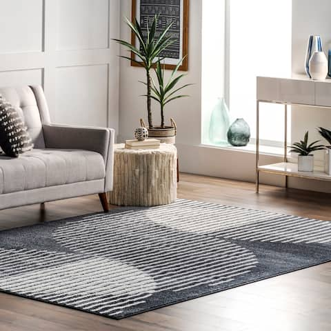 nuLOOM Shayla Contemporary Abstract Striped Area Rug