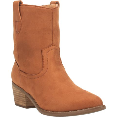 Code West Woke Round Toe Womens Western Cowboy Boots Ankle Low