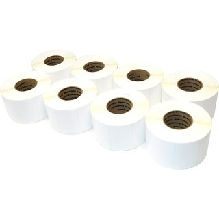 Intermec E08556 Polyester Labels - 4 x 2.5 inch Labels - 8 Pack (Refurbished)