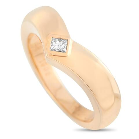 Cartier Rose Gold 0.10 ct Diamond Ring Size 5.75