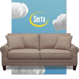 Link to Serta Copenhagen Microfiber 73-inch Deep-seating Sofa Similar Items in Sofas & Couches