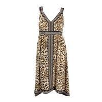 INC International Concepts Women's Plus Leopard-Print Fit & Flare Midi Dress - sweet leopard
