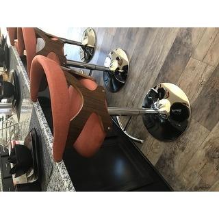 Carson Carrington Viby Walnut Wood Mid Century Modern Adjustable Bar Stool