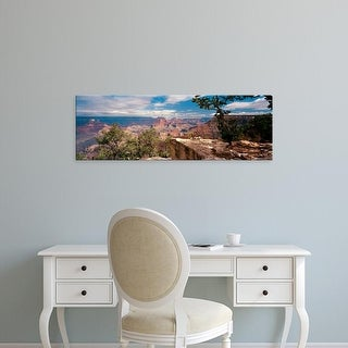 Easy Art Prints Panoramic Images's 'Rock formations, Mather Point, Grand Canyon National Park, Arizona' Canvas Art